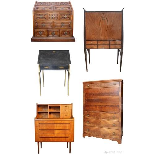 Medium Crop Of Antique Secretary Desk