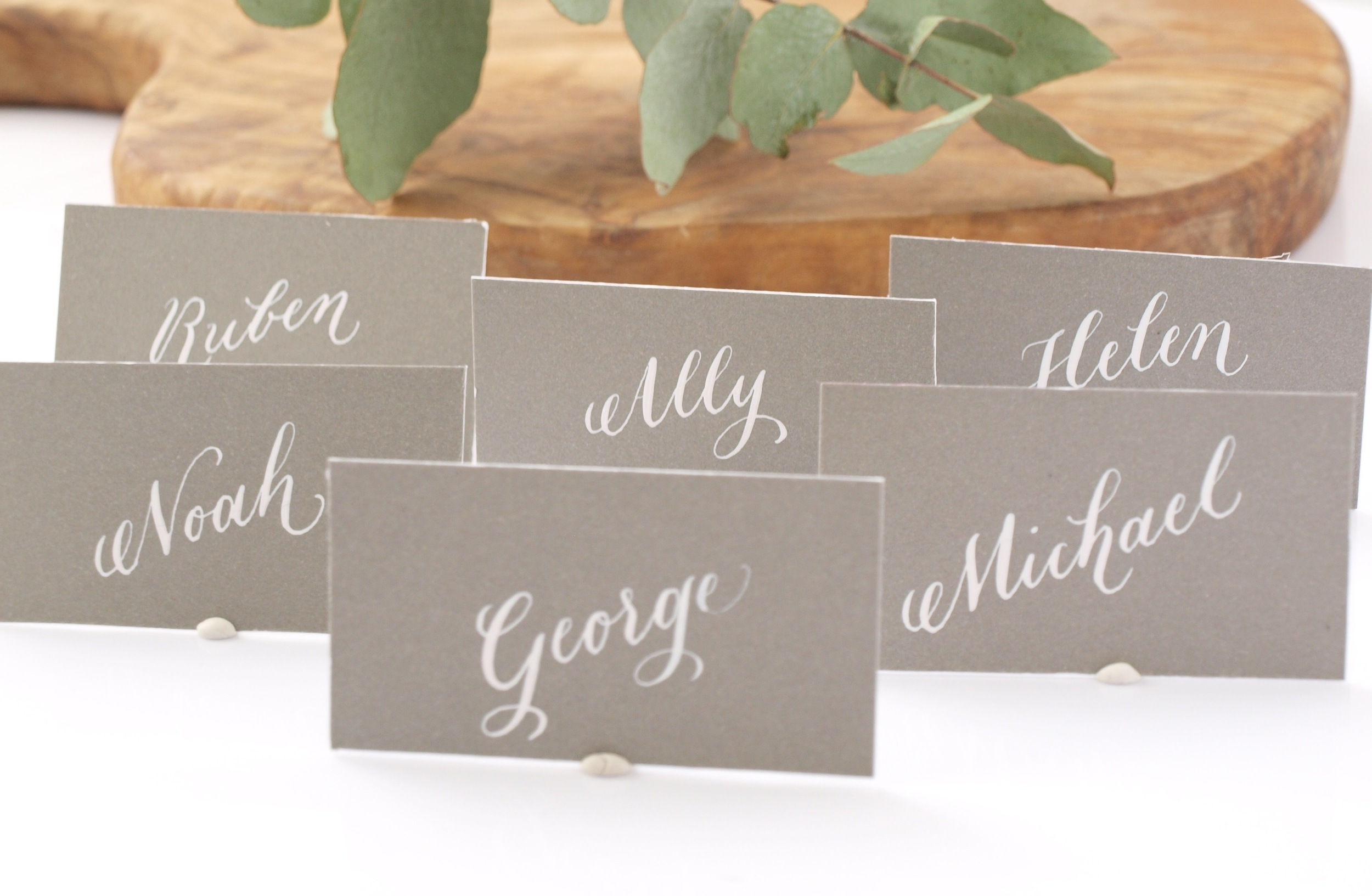 Calligraphy place cards \u2014 Fluid Calligraphy