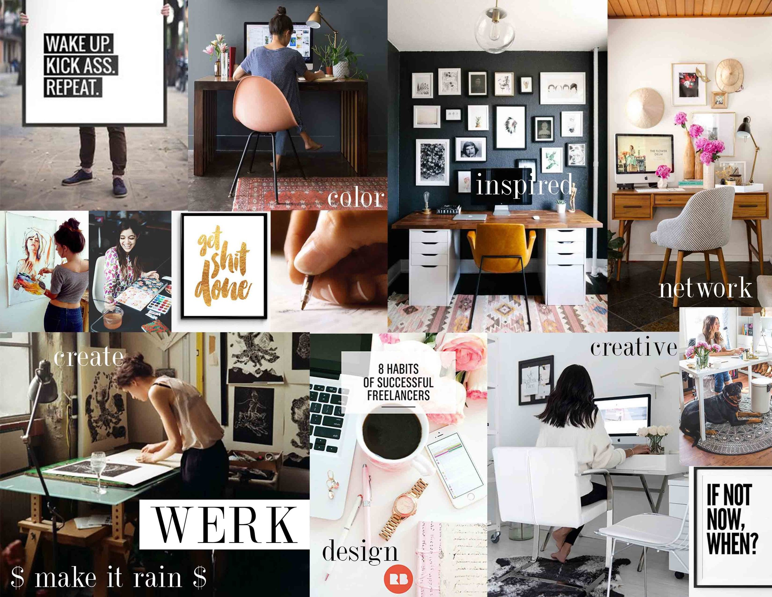 New Year\u0027s Vision Board Career + Finance \u2014 Lauren Lesley Studio