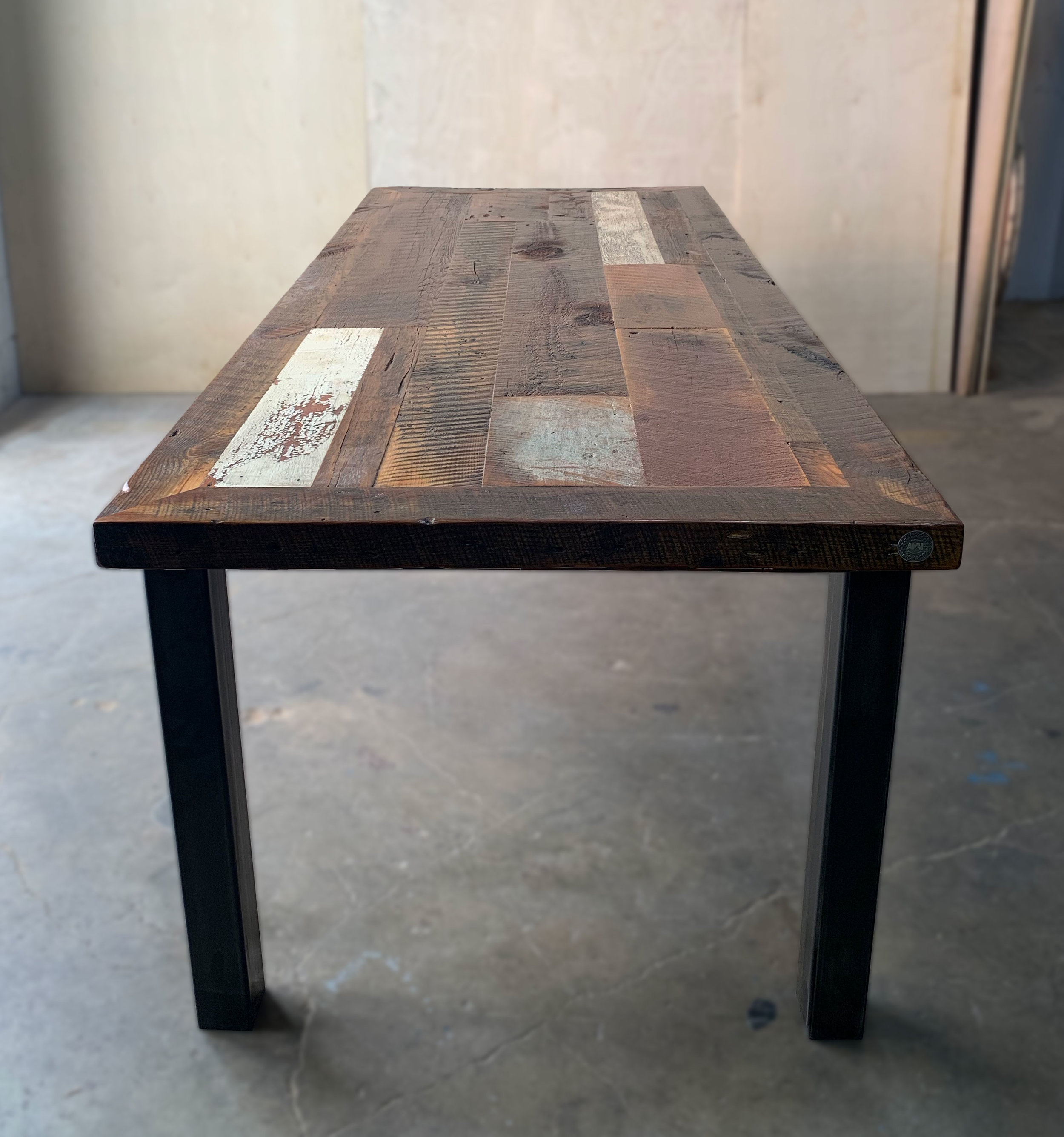 Metal Table Patchwork Table