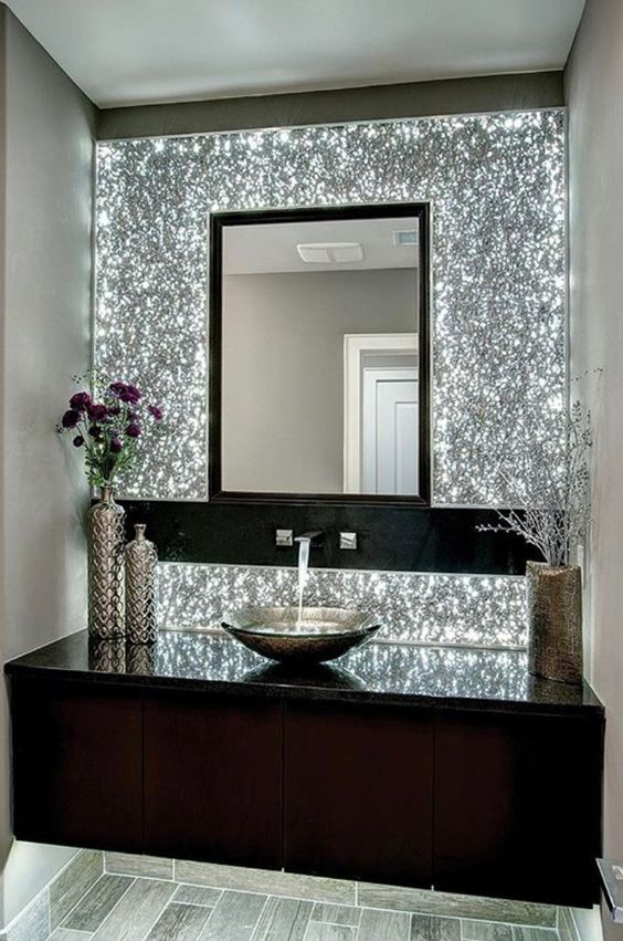 Black Glitter Wallpaper Bedroom 50 Awesome Powder Room Ideas And Designs Renoguide