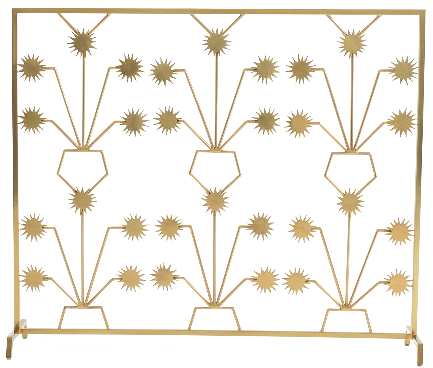 Brass Fireplace Screen Soft Finished Brass Fireplace Screen Hable