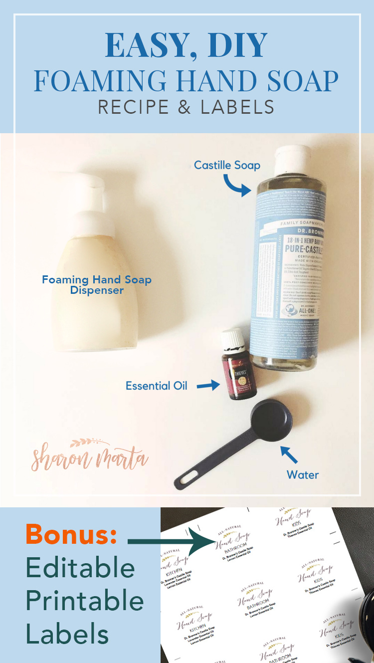 Diy Soap Essential Oils Easy Diy Foaming Hand Soap Recipe Sharon Marta Essentials