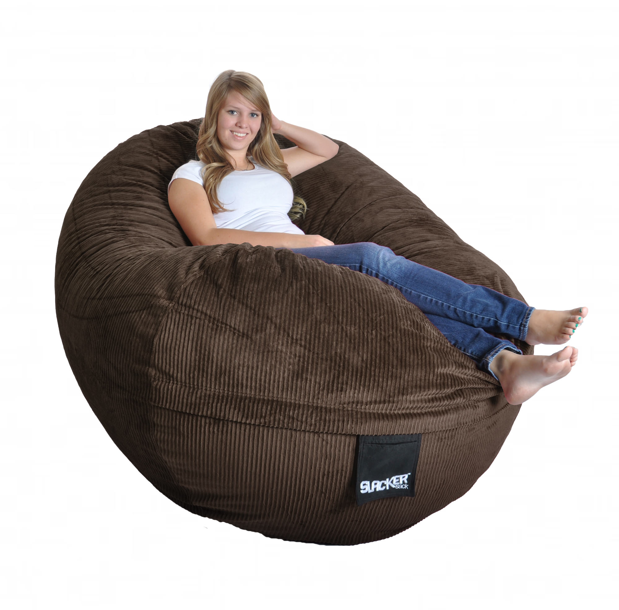 Chocolate Corduroy Sofa Sofa Beanbag Chocolate Corduroy