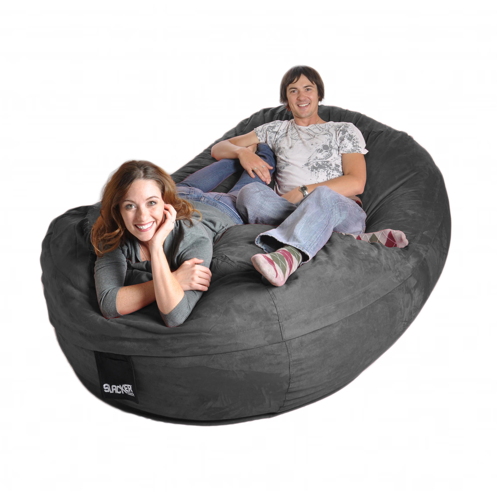 Couches 4 Beanbag Couch Charcoal Microsuede