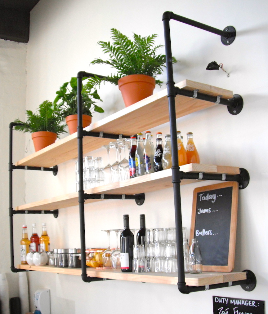 Kitchen Shelves Wall Mounted Pipe Shelves Wall Mounted Furniture Designindustriouspipe