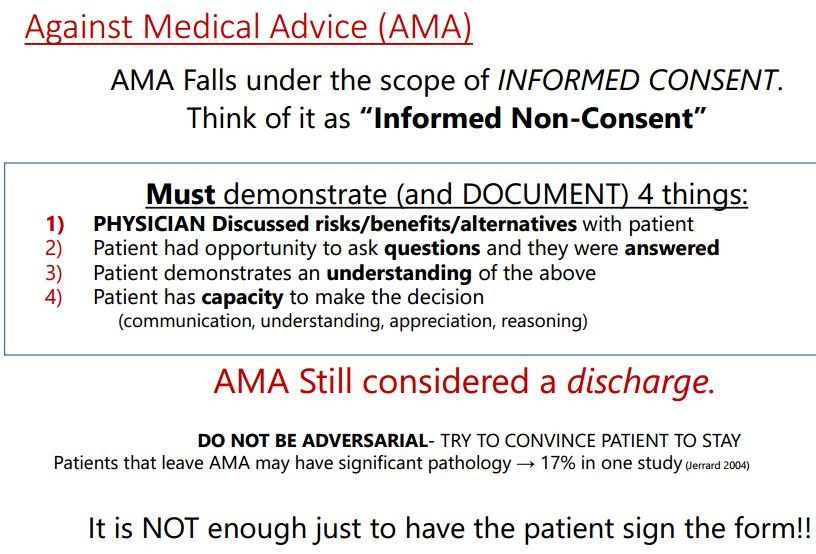 Conference Notes 8-20-2014 \u2014 ACMC EM - against medical advice form