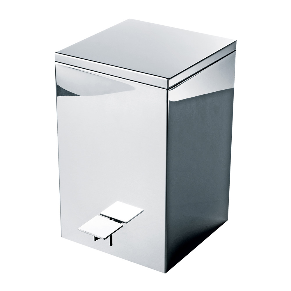 Decor Walther Decor Walther Te 70 Pedal Bin Polished Stainless Steel