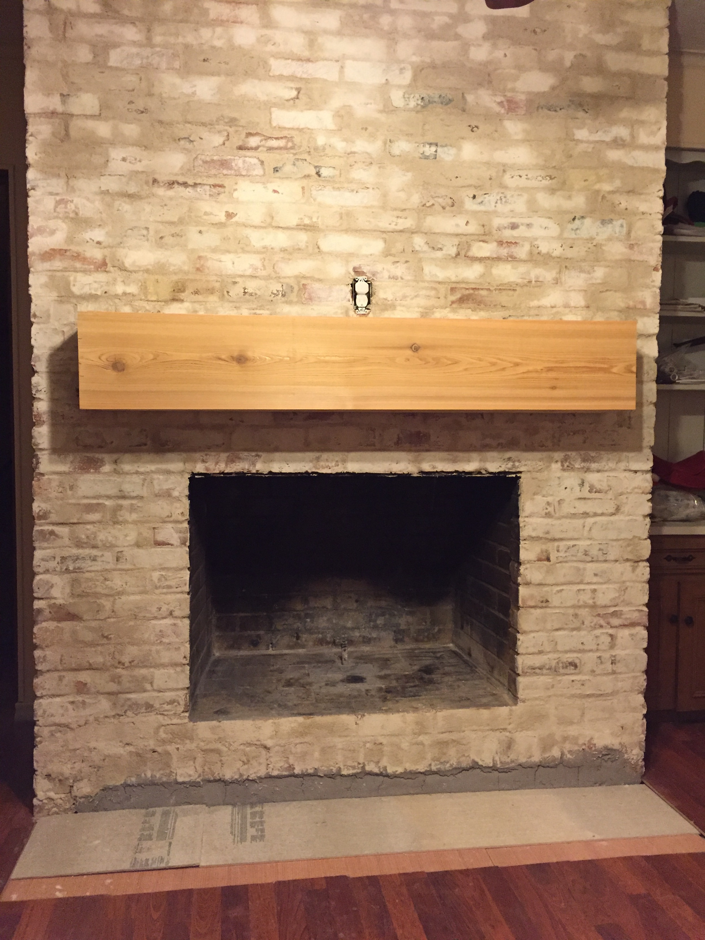 Lime Wash Brick Fireplace How To Mortar Wash German Smear A Brick Fireplace Updated May
