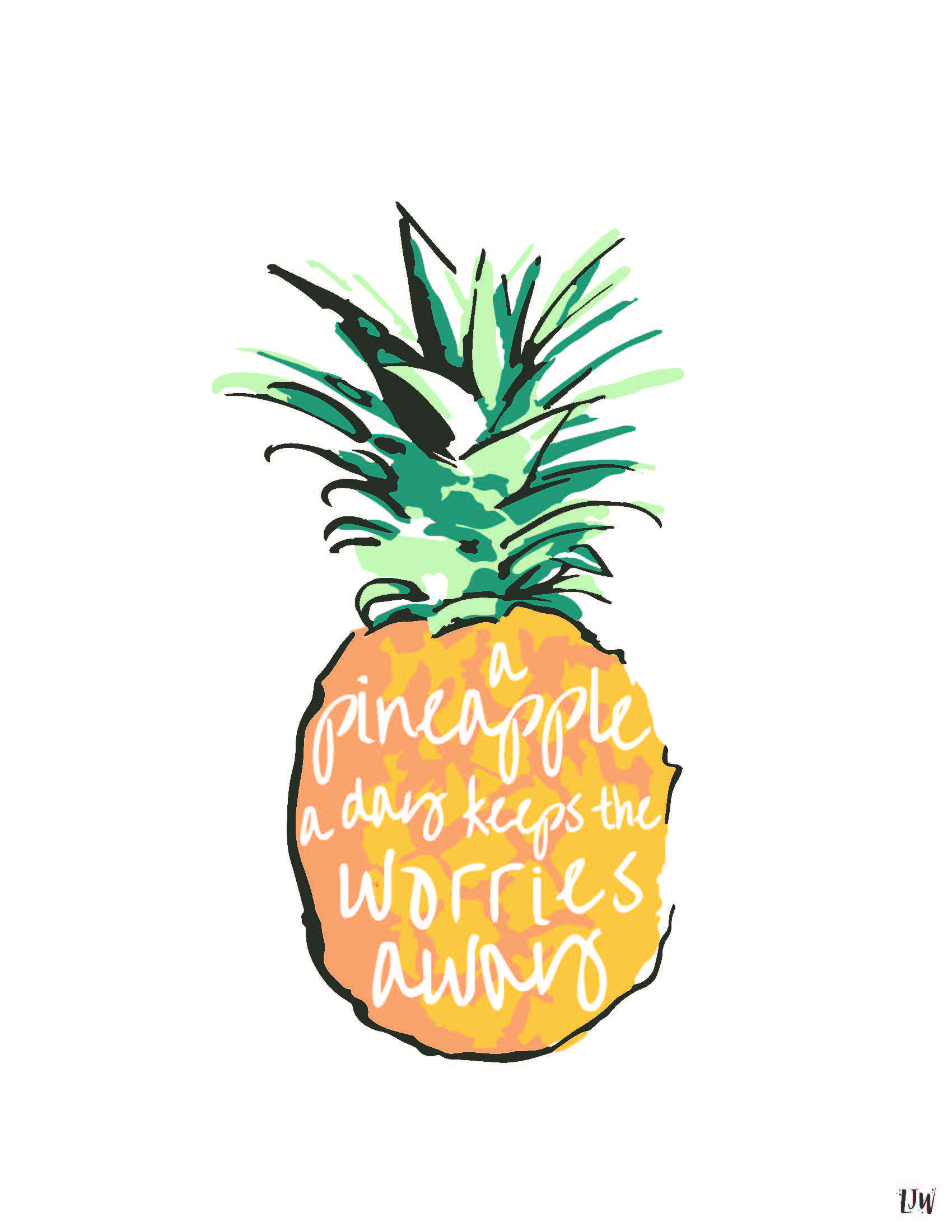 Cute Cartoon Angel Wallpaper Pineapple Graphic Design Www Imgkid Com The Image Kid