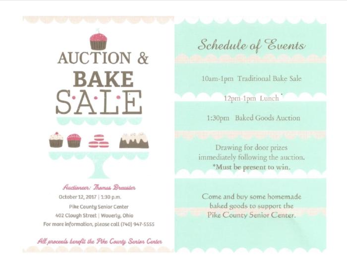 Pike County Senior Center Auction  Bake SALE \u2014 Pike County Chamber