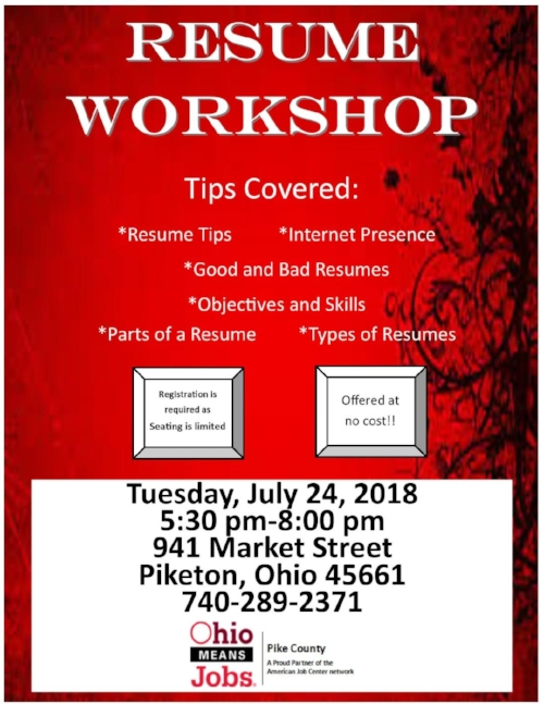 Resume Workshop \u2014 Pike County Chamber of Commerce
