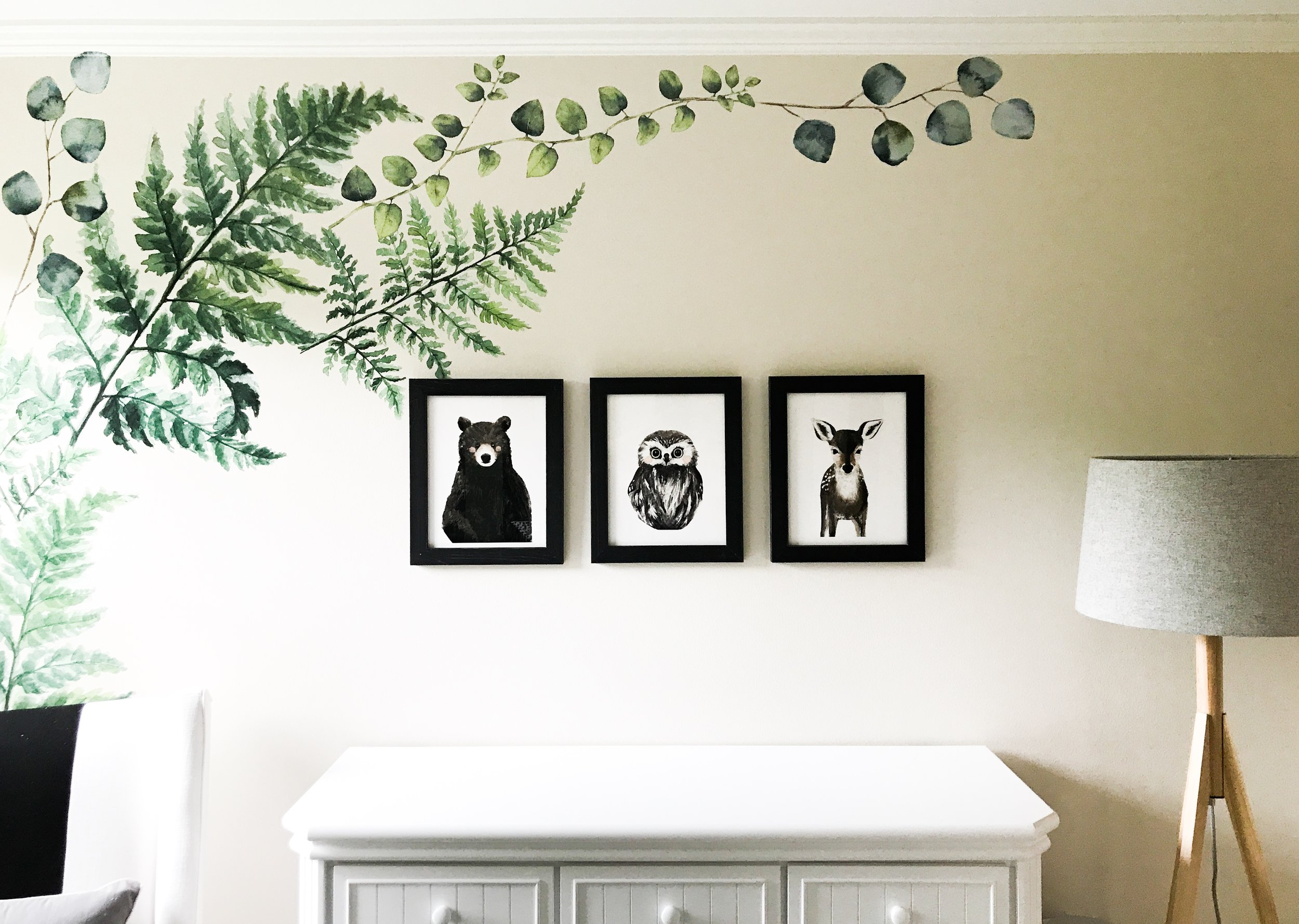 Woodland Creatures Nursery Decor For Baby Boy Or Girl