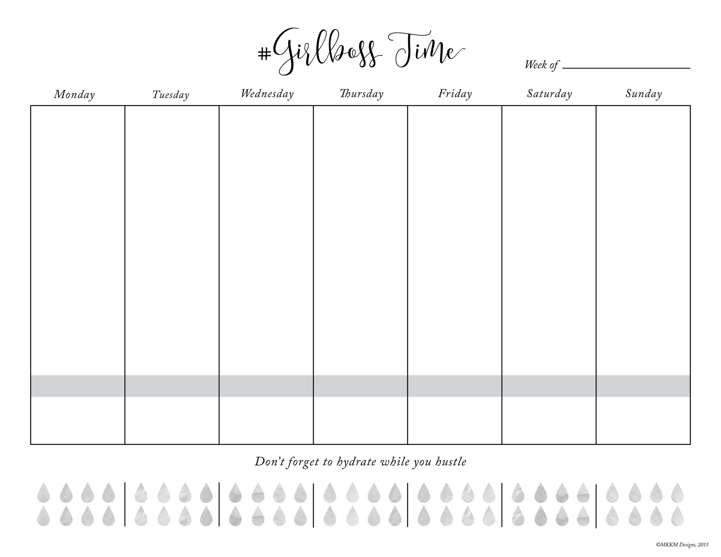 Weekly Planner Free Printable \u2014 MKKM Designs