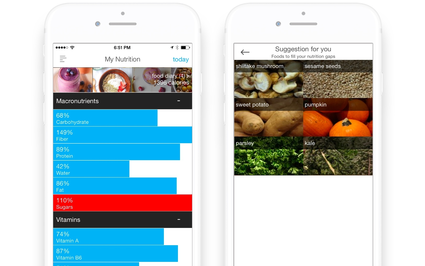 Vegetarian Nutrition Tracking \u2014 Wholesome - nutrition tracker