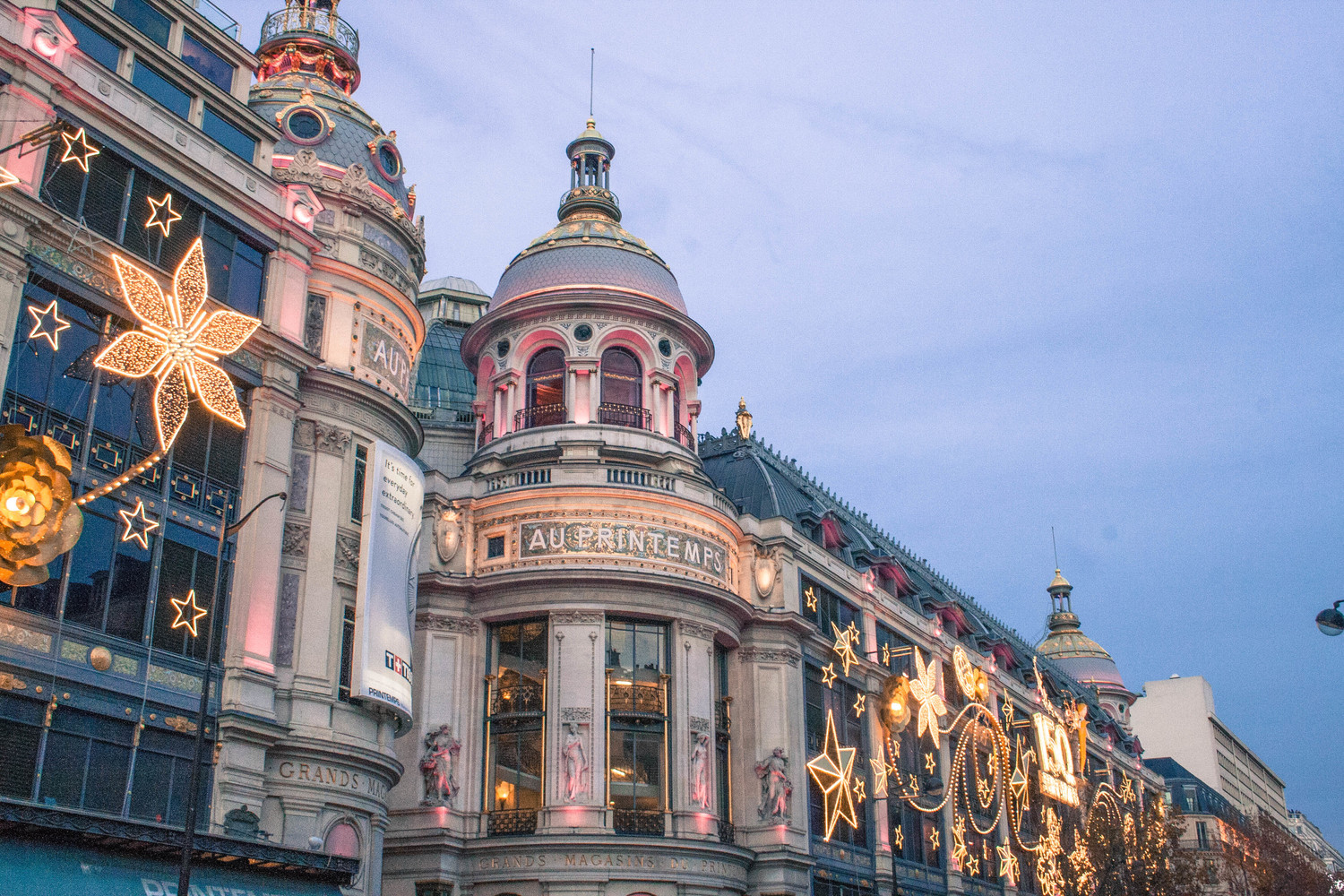 Le Printemps Paris Pastel Christmas At Printemps In Paris Accidentally Jetset