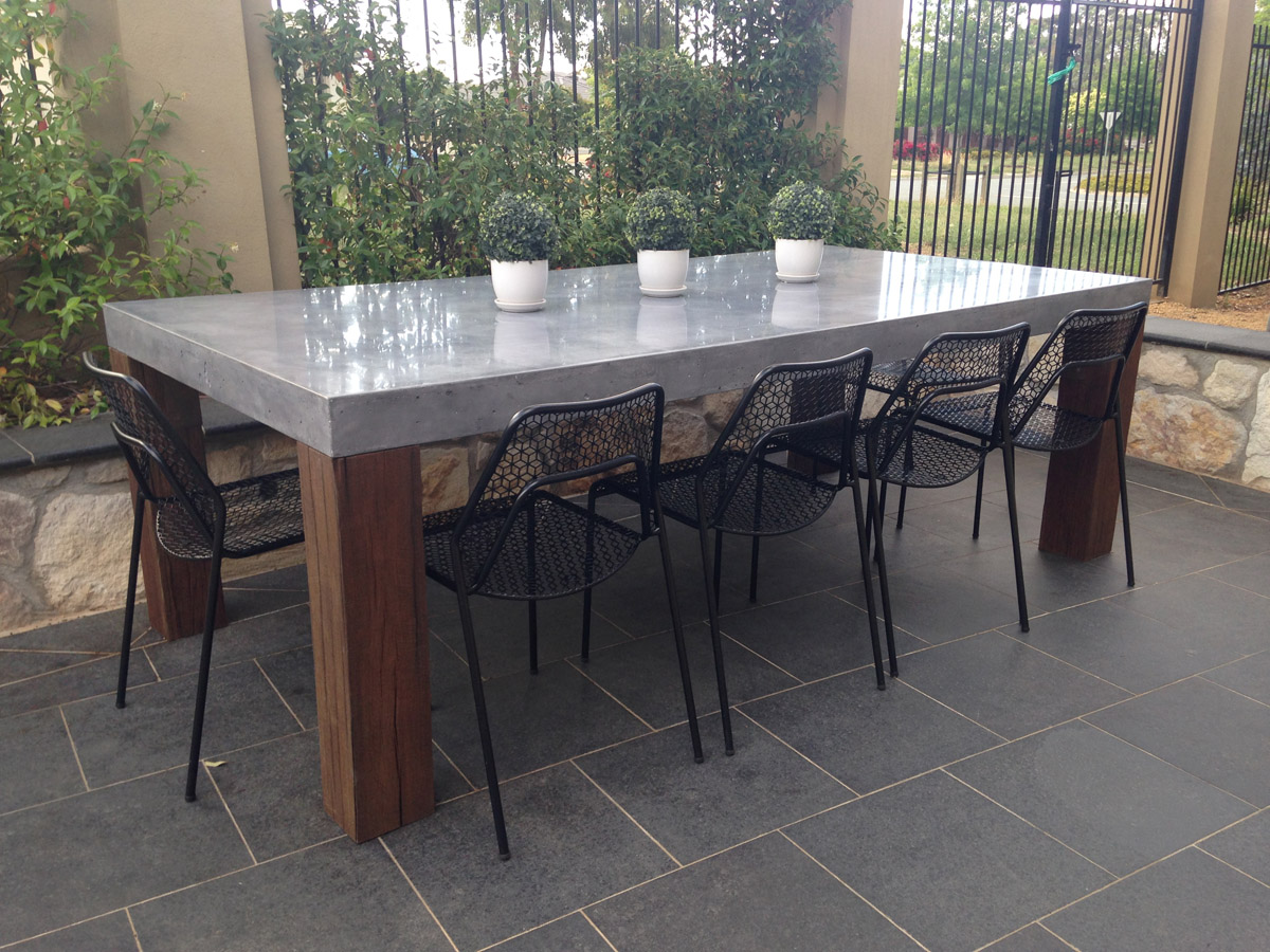concrete tables canberra concrete kitchen table Outdoor concrete dining table canberra