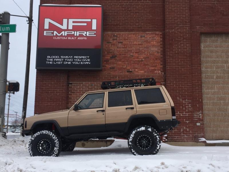 Gold 1999 Jeep Cherokee, XJ \u2014 NFI Empire