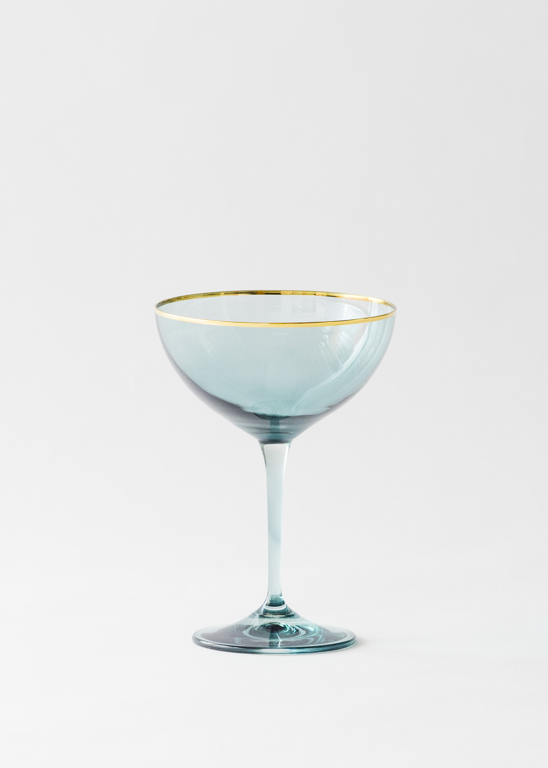 Champagne Coupe Bella Gold Rimmed Coupe Agave