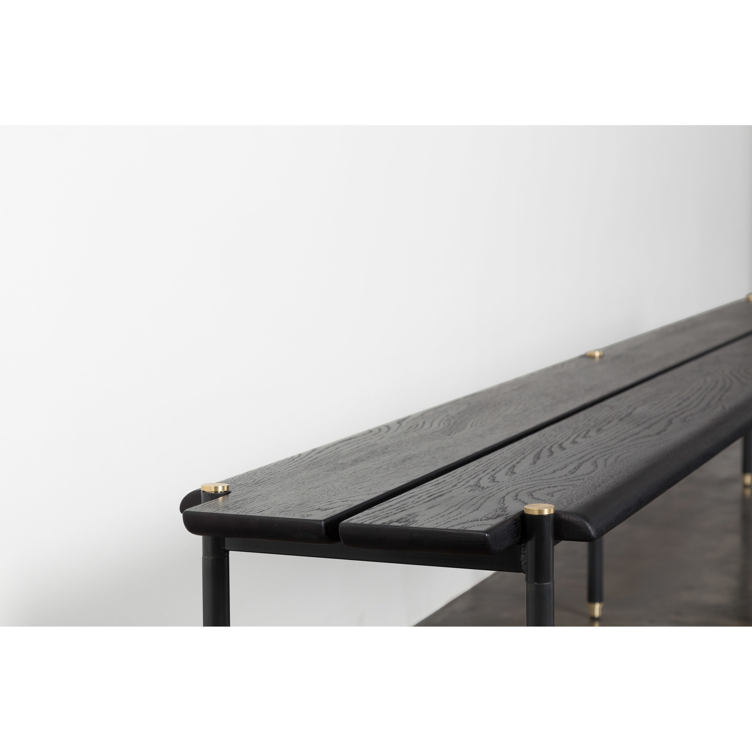 Black Bench Stacking Bench Medium