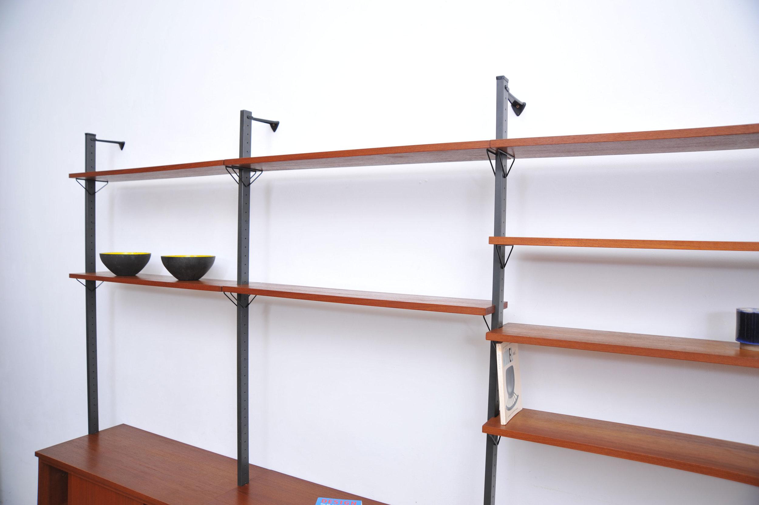 Wandregal Skandinavisch Wandregal Dänisches Design Mdf Holz Metall