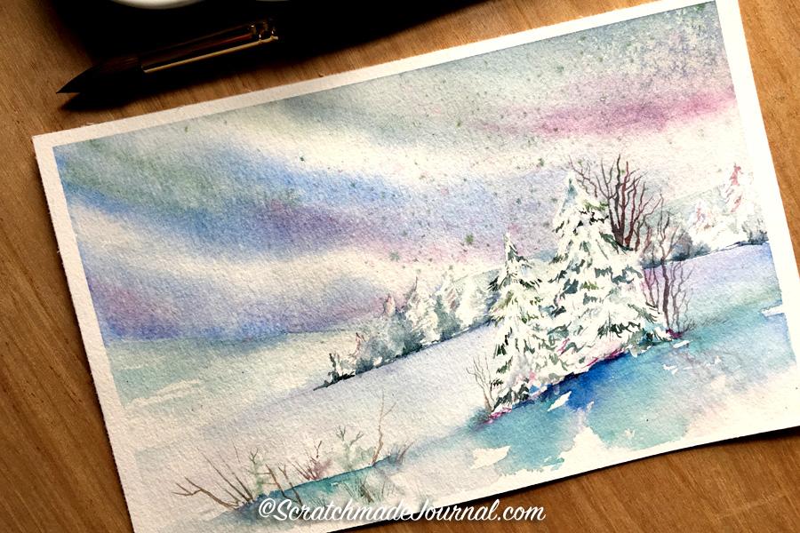 Watercolor Tutorial Salt Painting Scratchmade Journal