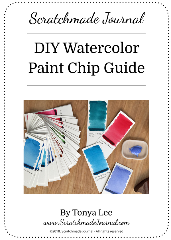 DIY Watercolor Paint Chips PLUS a Free Printable \u2014 Scratchmade Journal