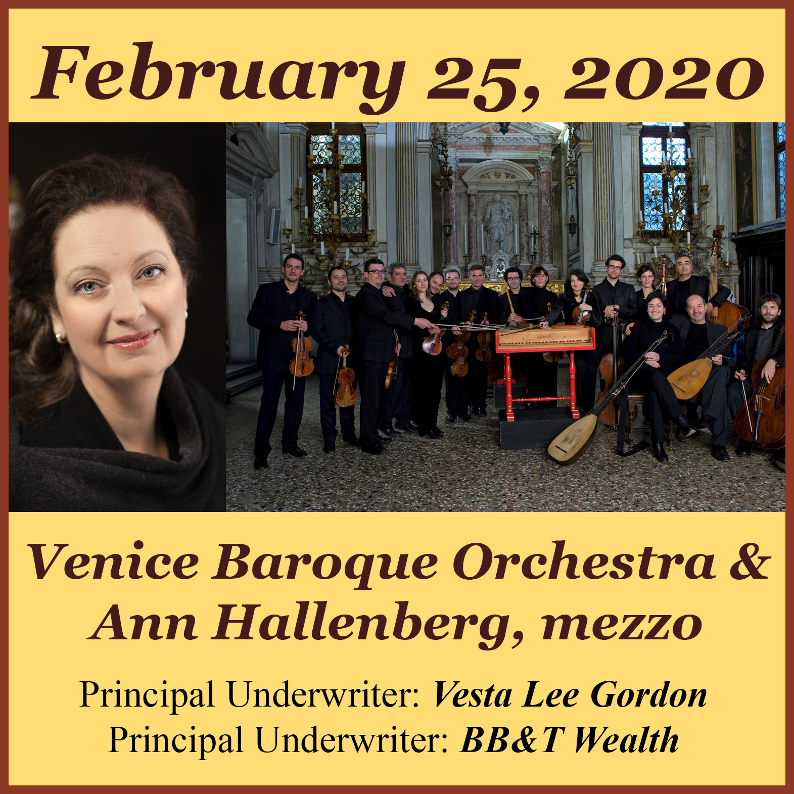 Arte Concert Opera De Paris Feb 25 2020 Venice Baroque Ann Hall Tuesday Evening Concert Series
