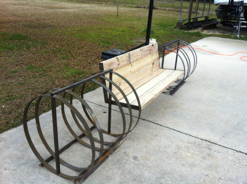 Bike Rack Bench Kiosk Trail