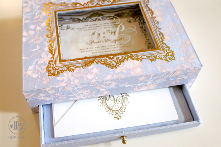 Box Wedding Invitation Lela New York Luxury Wedding
