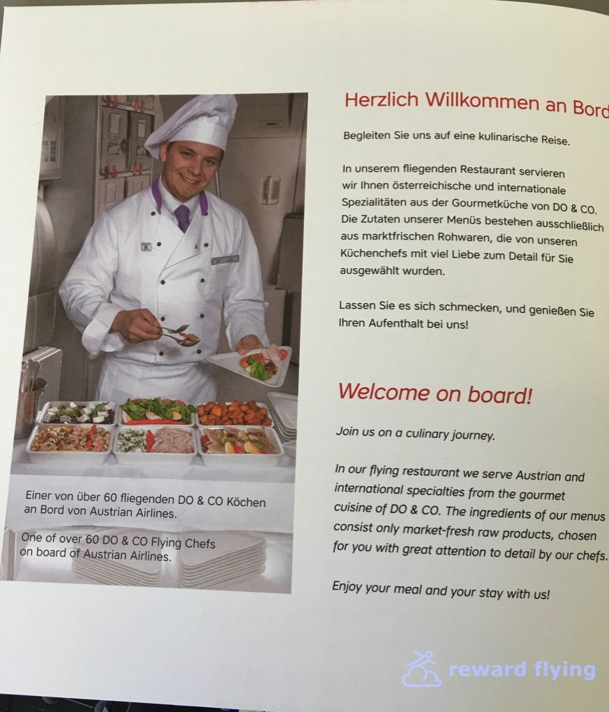 Küchenchefs Tv Now Austrian 767 300 Business Class Vie Ord Reward Flying