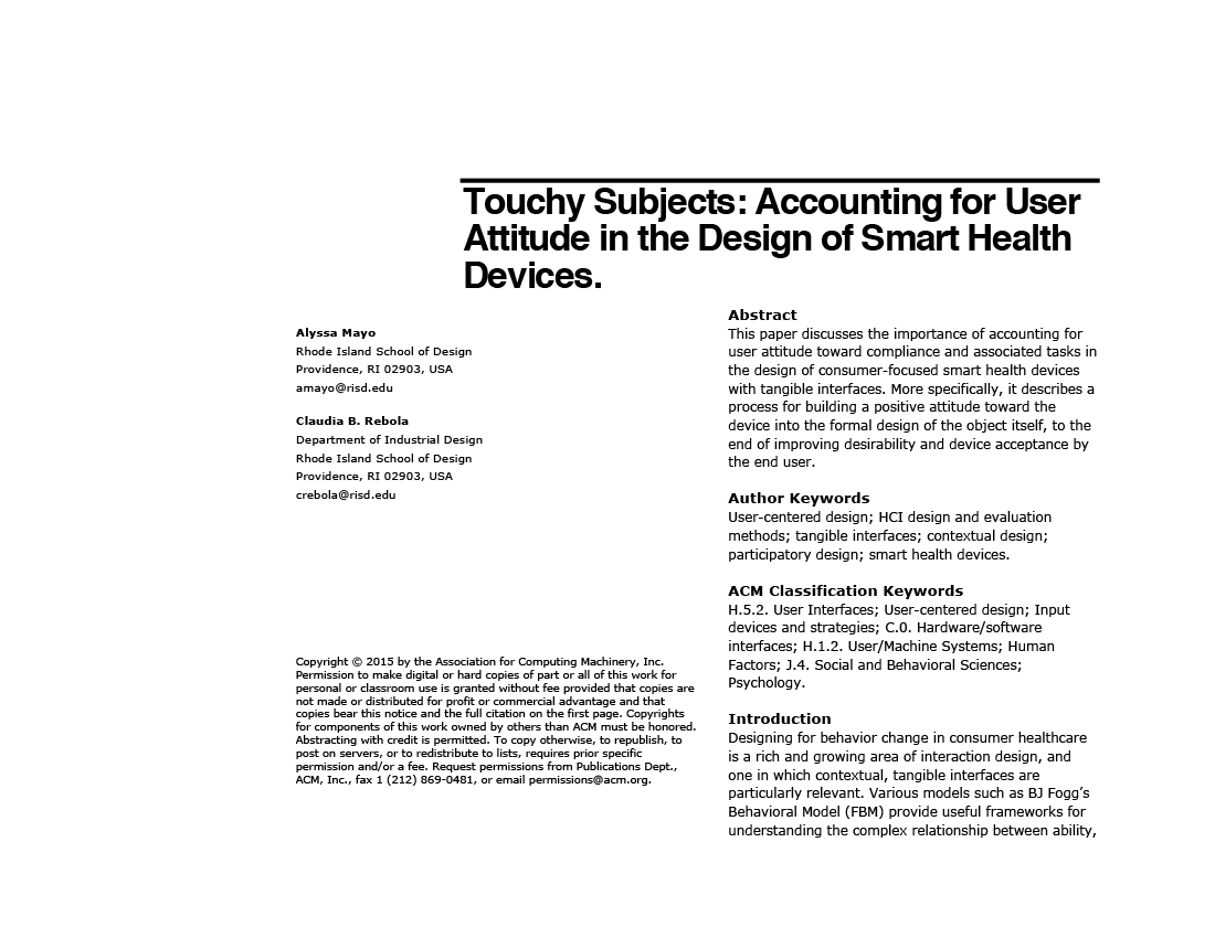 Interaction Design / Academic Writing \u2014 Alyssa R Mayo - design paper for writing