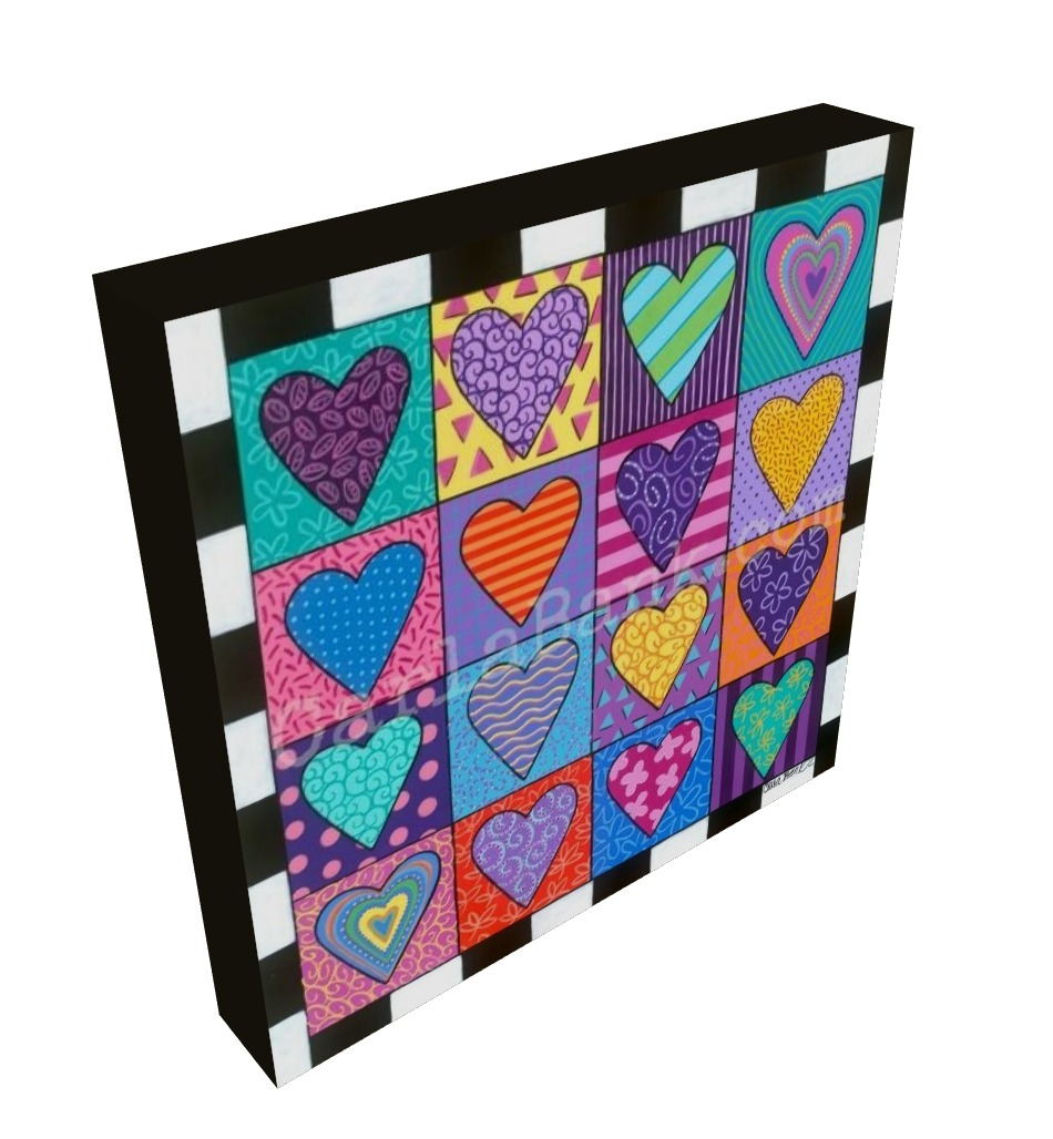 Canvas Giclee Sixteen Hearts Canvas Giclee Print