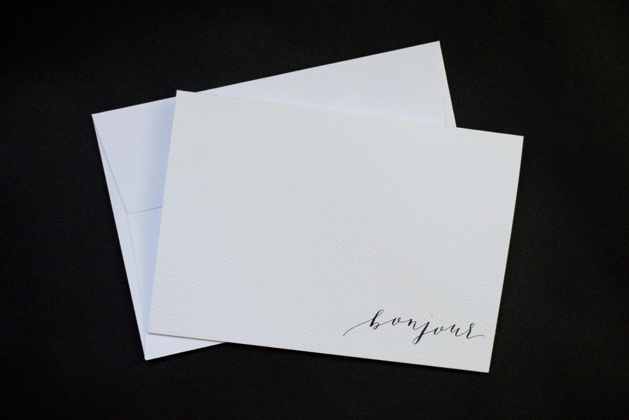 Bonjour Notecards \u2014 Sam Teich