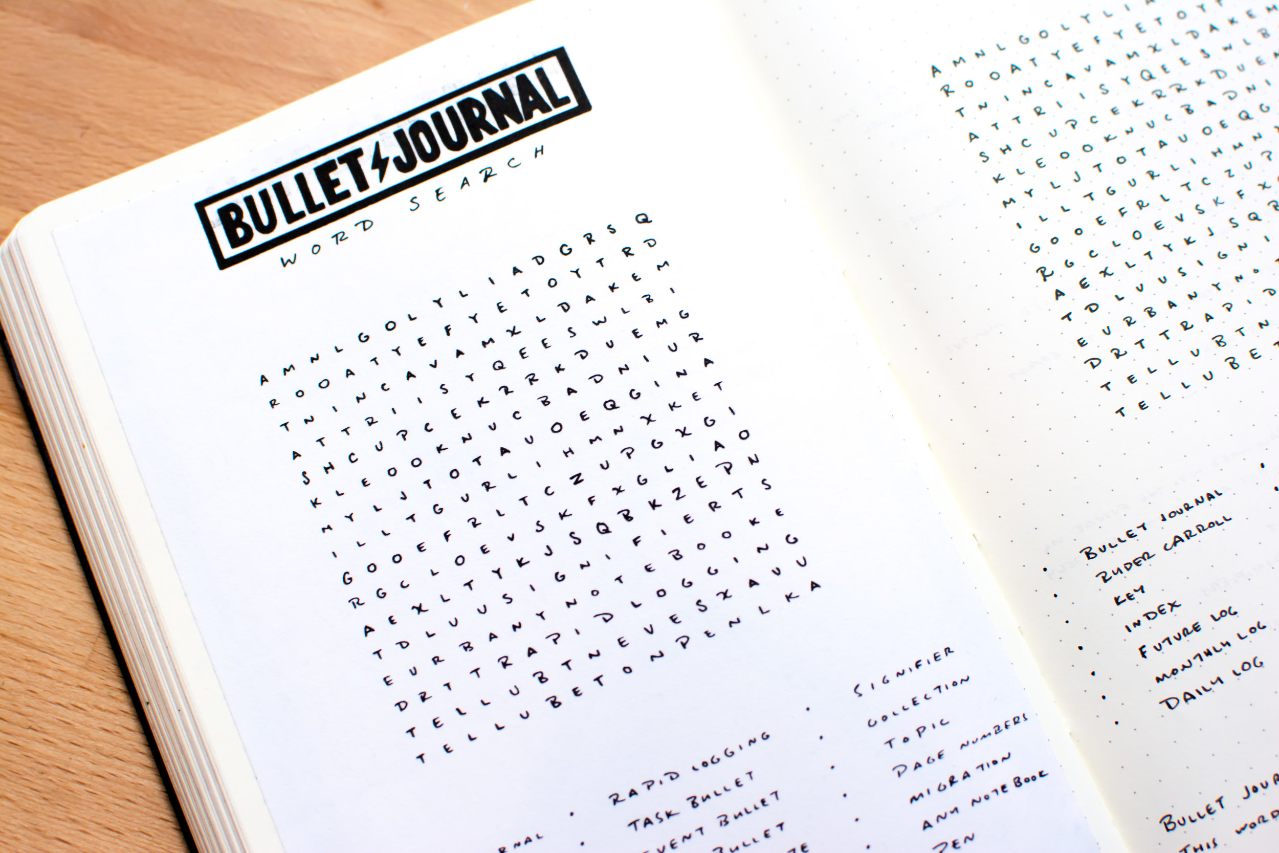 The Bullet Journal Word Search \u2014 Tiny Ray of Sunshine
