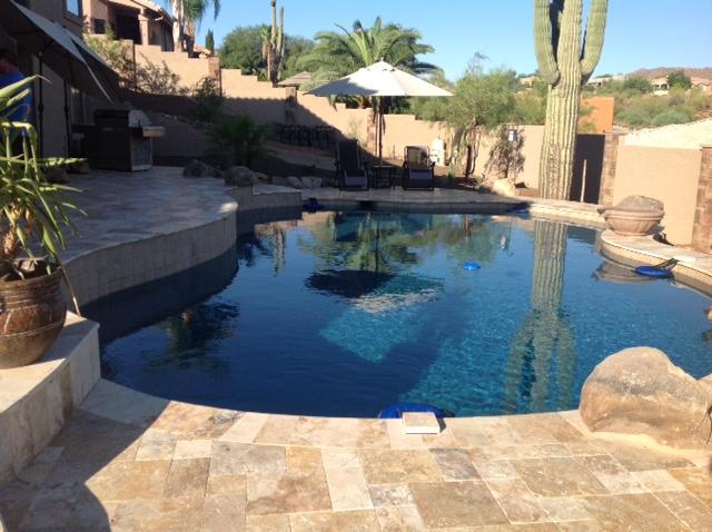 Simple Backyards Presidential Pools Spas Patio Of Arizona
