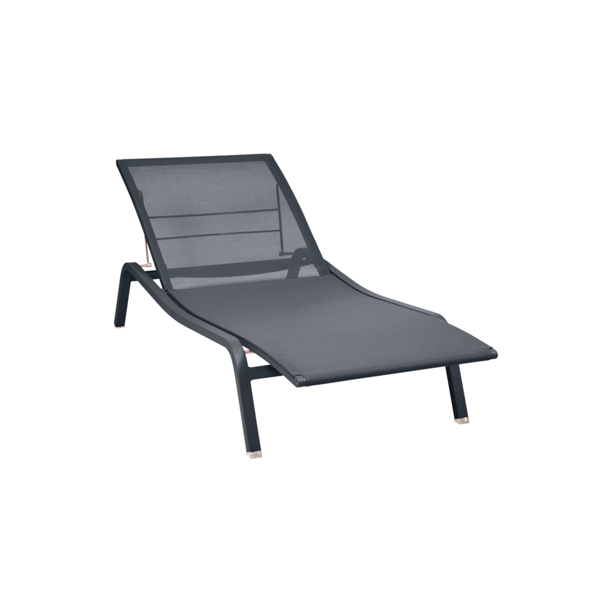 White Plastic Sun Loungers Alize Stackable Sun Lounger