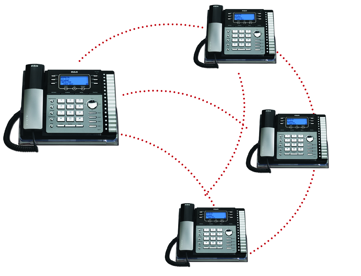 4-Line Desk Phone with Auto-Attendant and Digital Answerer \u2014 RCA by
