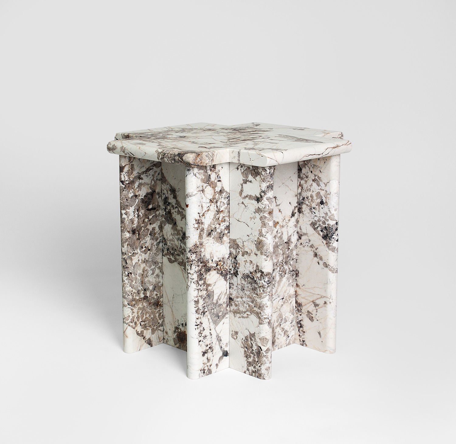 Table Metal Blanc Ziggurat Side Table Blanc Du Blanc Granite Christopher Stuart