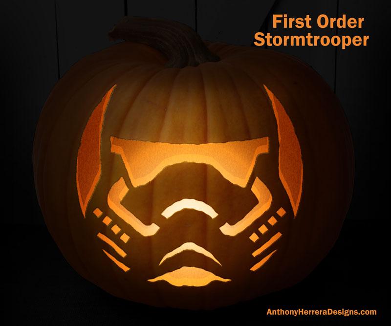 Star Wars Pumpkin Carving Templates \u2014 Anthony Herrera Designs