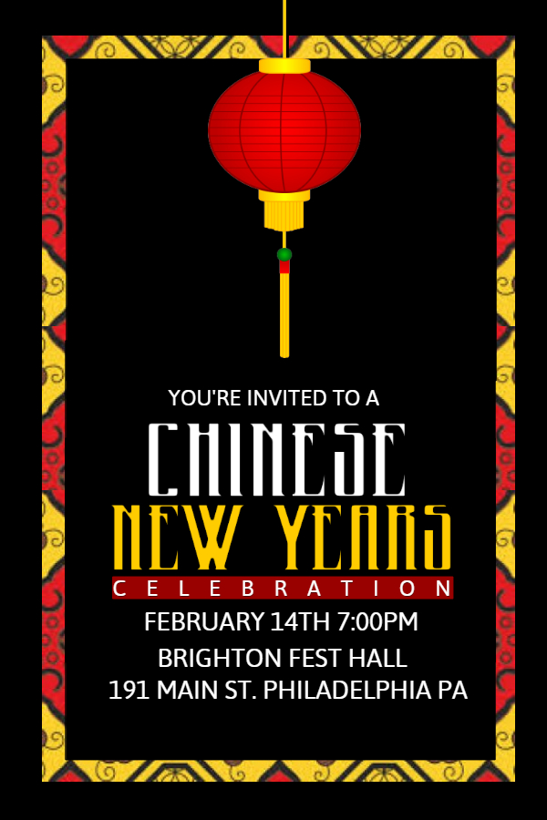 Celebrate the Chinese New Year with PosterMyWall Design Studio - new year poster template