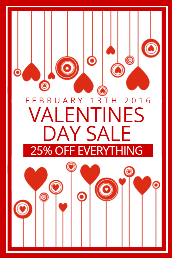 Rock Your Valentine\u0027s Sale with our Retail Flyers Design Studio - for sale poster template