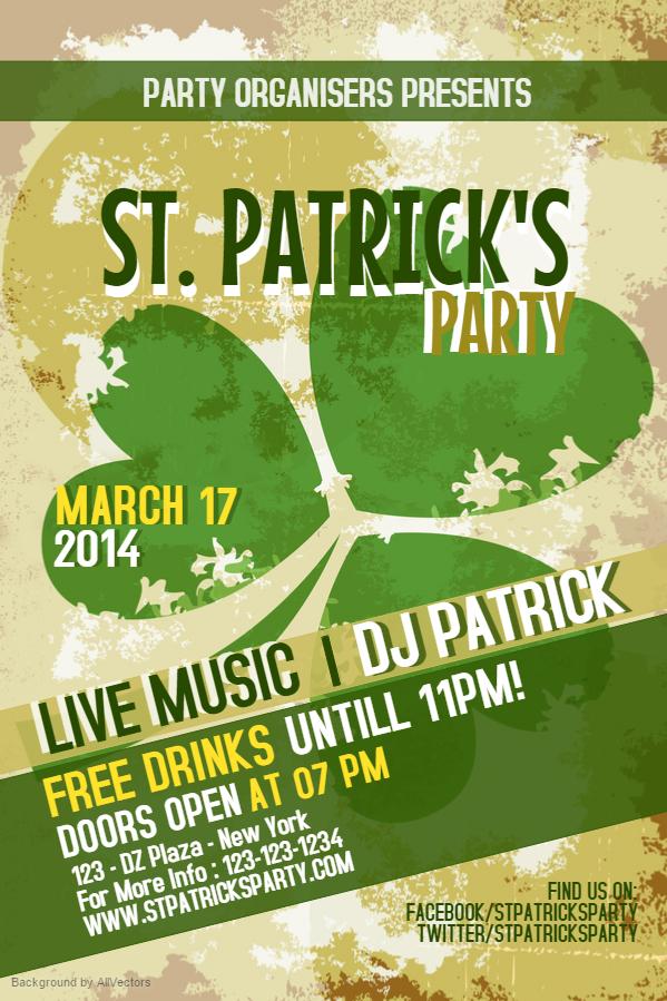 Prepare For St Patrick\u0027s Day With Bar Flyers Design Studio