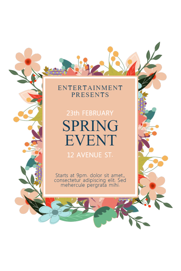 New Flyer Templates for Spring  Garage Sales Design Studio - spring flyer template