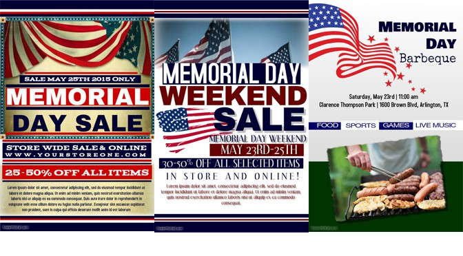 Memorialize Memorial Day with a Poster or Flyer Design Studio