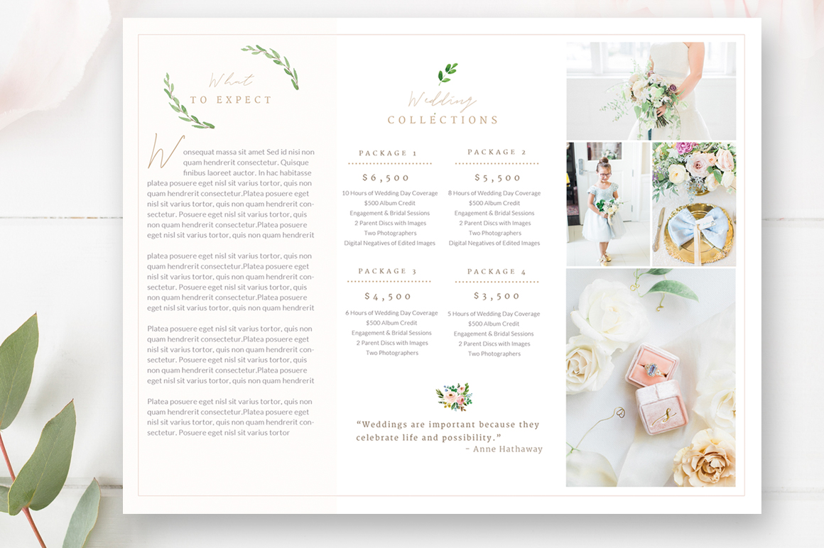 Wedding Photography Trifold Brochure Template for Photoshop