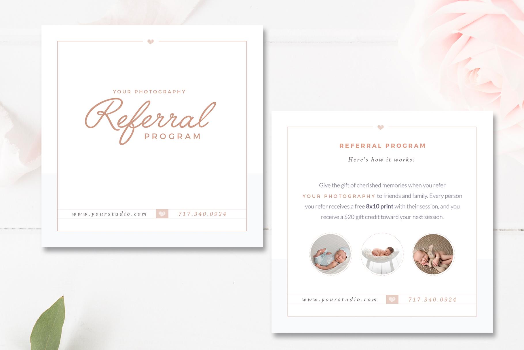 Photography Referral Card Templates, Referral Program \u2014 By Stephanie