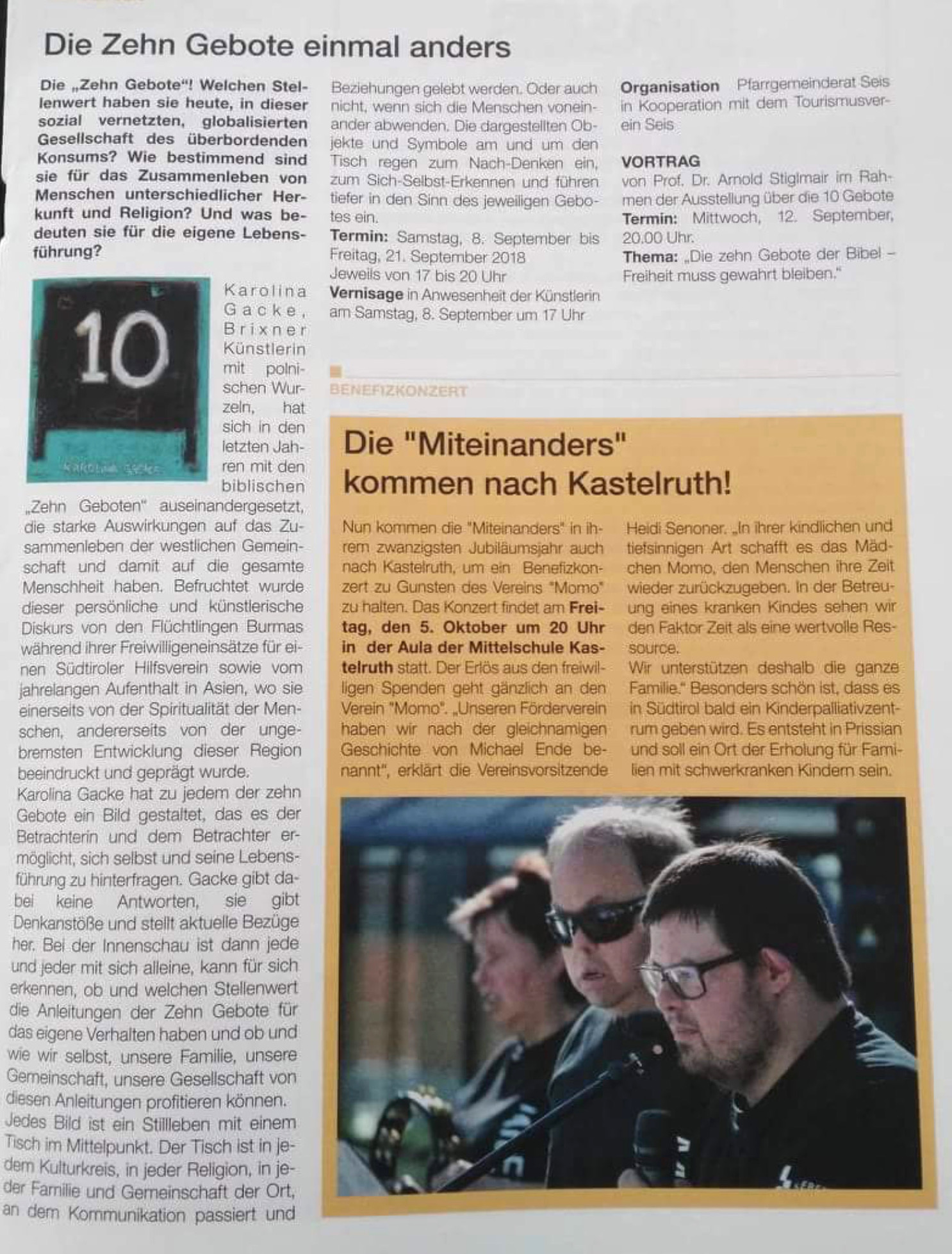 Radio Wohnzimmer Sender Bozen Press Review The Art Of Karolina Gacke