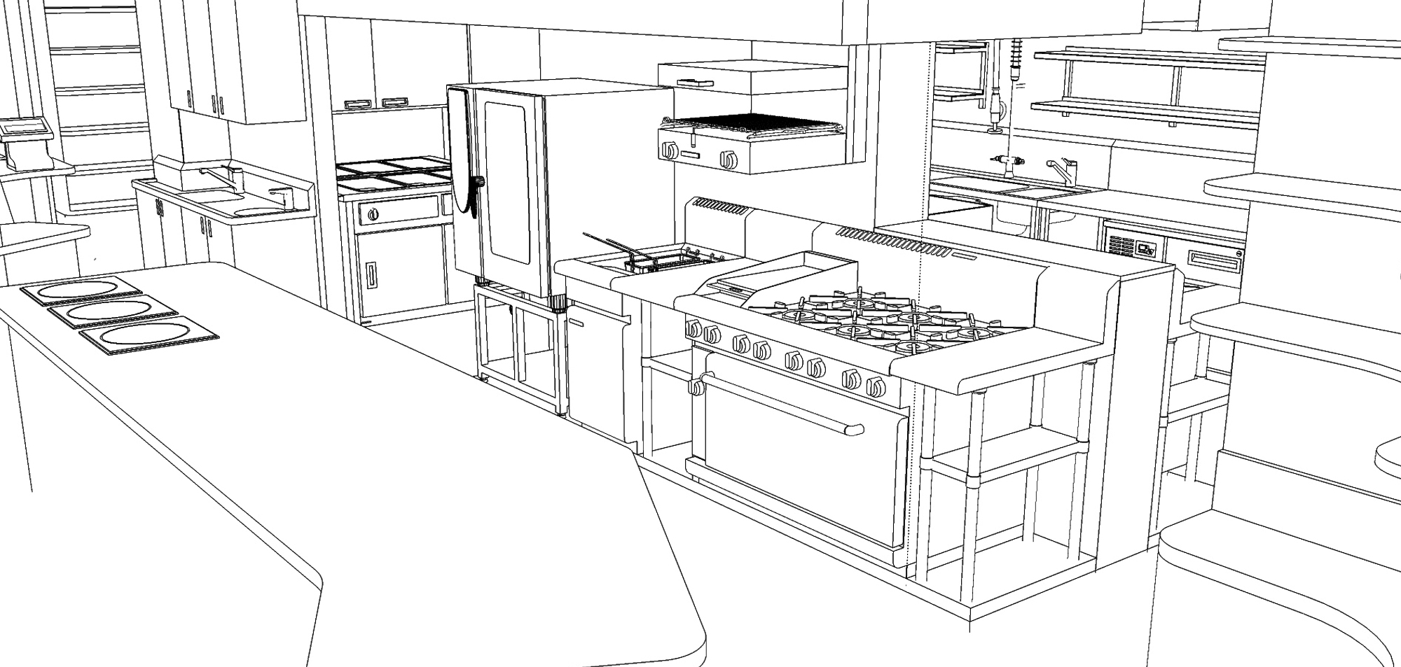 Commercial Kitchen 3d Design Wildfire Commerical Kitchens Bars