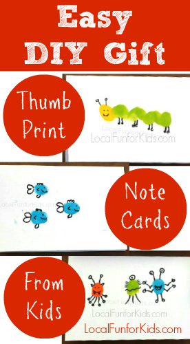 DIY Thumb Print Note Cards From Kids \u2014 Local fun for kids